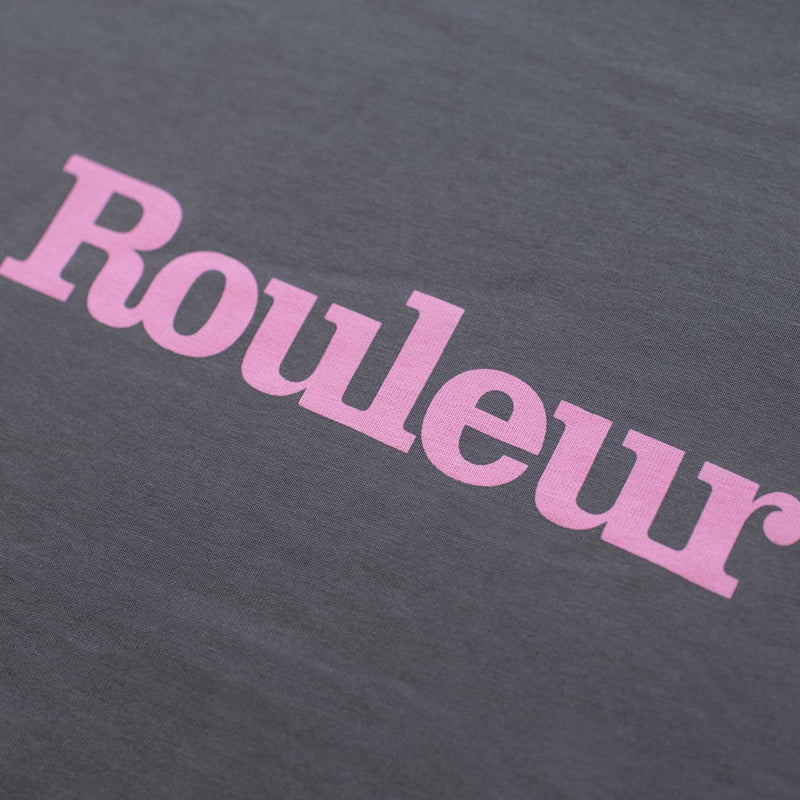 Rouleur Logo '100th issue' Pink Wordmark T-Shirt