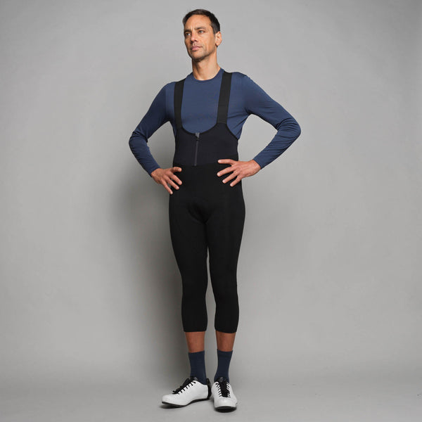 Men's Padded Thermal Merino 3/4 Bib Shorts