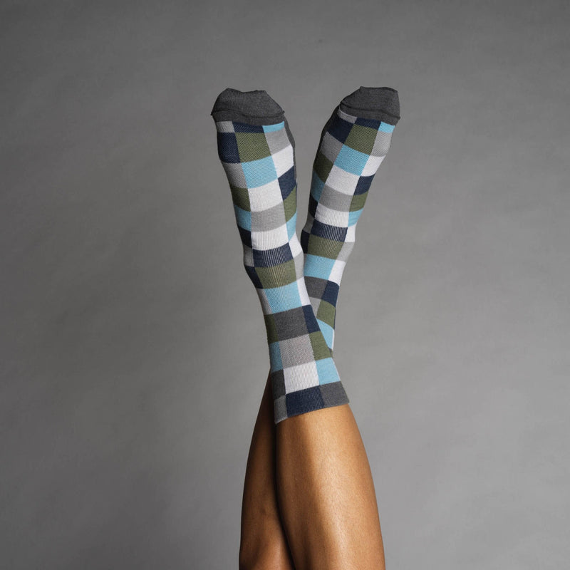 Chequered Merino Sock