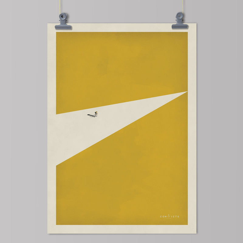 Convicts of the Peloton Art Print - Malliot Jaune Art Print The Handmade Cyclist