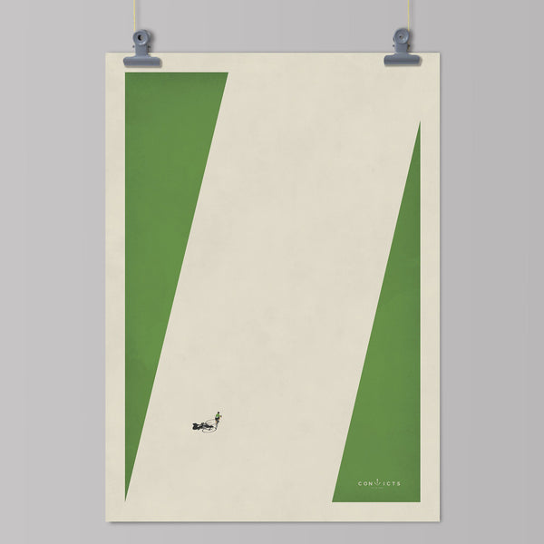 Convicts of the Peloton Art Print - Malliot Vert Art Print The Handmade Cyclist