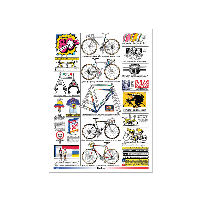 Decades - The 80s - Art Print - Rouleur