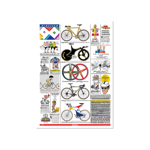 Decades - The 90s - Art Print - Rouleur