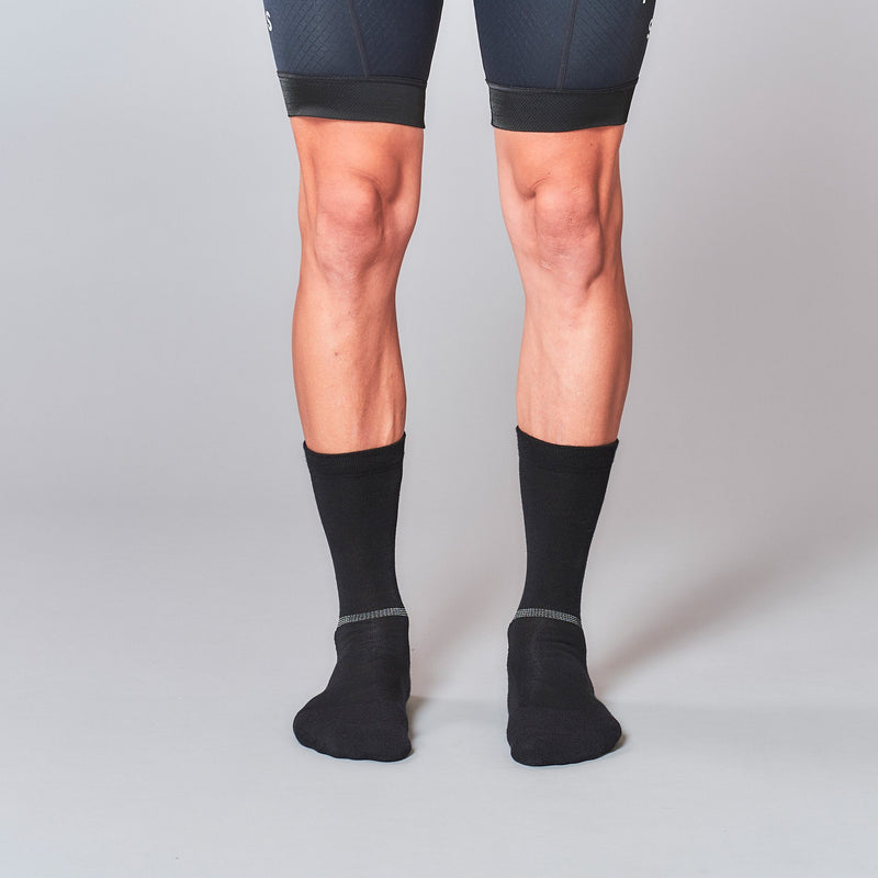 Fingerscrossed Socks - Merino - Black - Rouleur