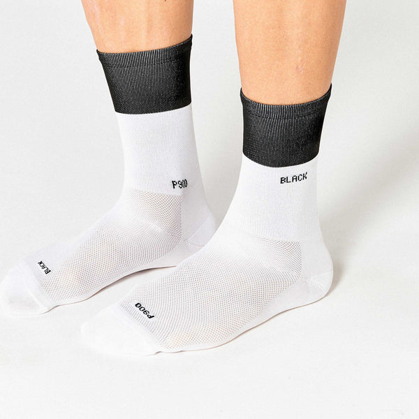Fingerscrossed Socks - Block - Black/ White - Rouleur