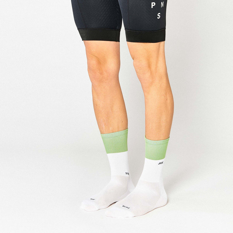 Fingerscrossed Socks - Block - Jade/White - Rouleur