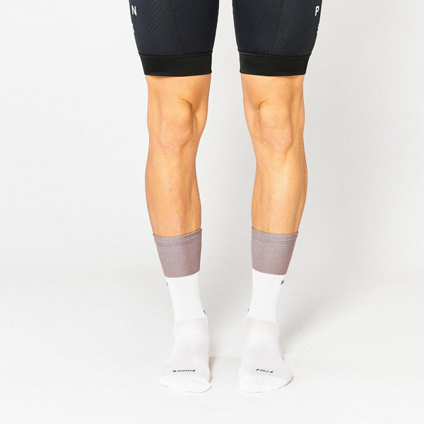 Fingerscrossed Socks - Block - Powder/White - Rouleur