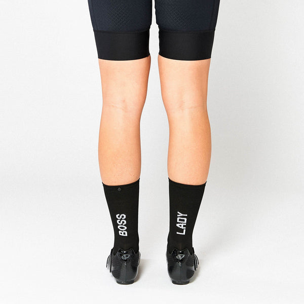 Fingerscrossed Socks - Boss Lady - Black - Rouleur