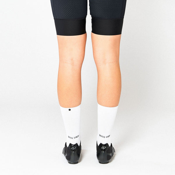 Fingerscrossed Socks - Boss Lady - White - Rouleur