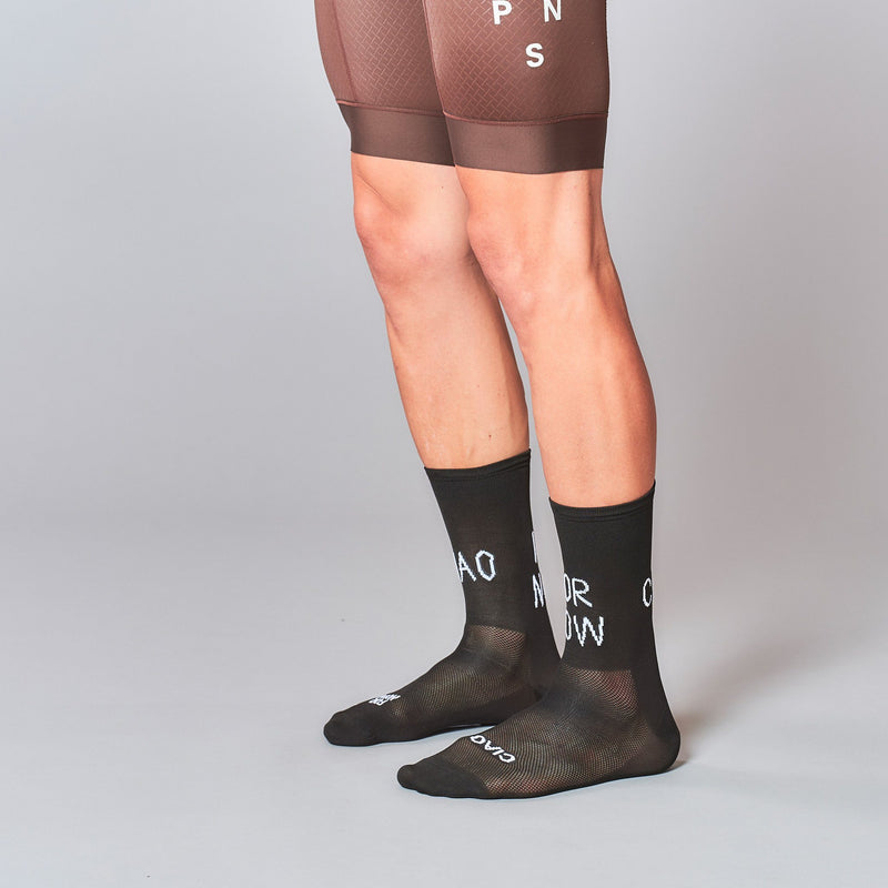 Fingerscrossed Socks - Ciao For Now - Black - Rouleur