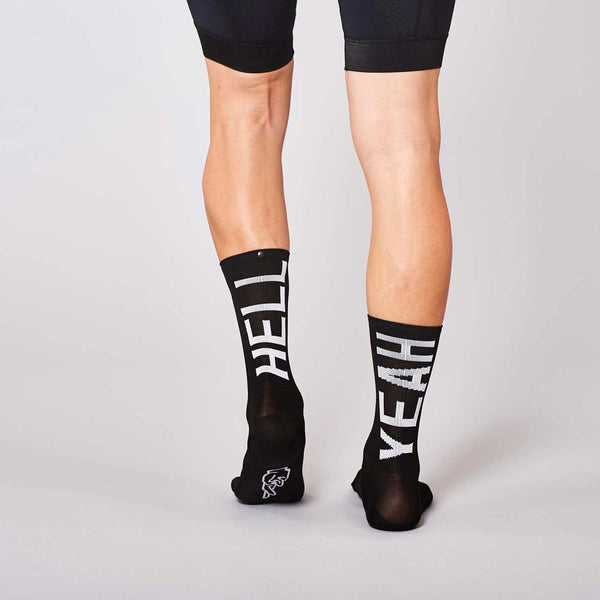 Fingerscrossed Socks - Hell Yeah 2.0 - Black - Rouleur
