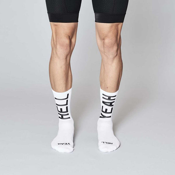 Fingerscrossed Socks - Hell Yeah 2.0 - White - Rouleur