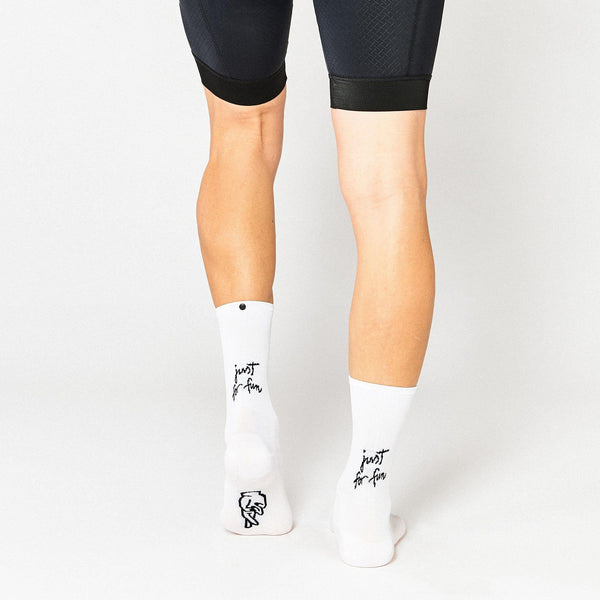 Fingerscrossed Socks - Just For Fun - White - Rouleur