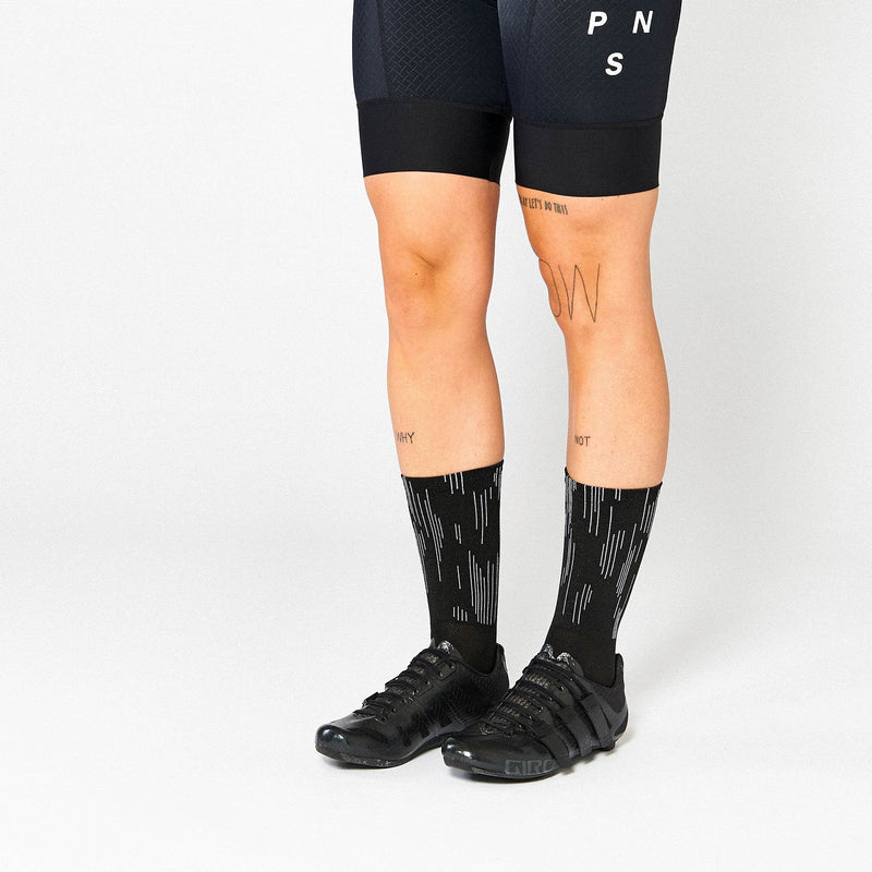 Fingerscrossed Socks - Lines - Black - Rouleur