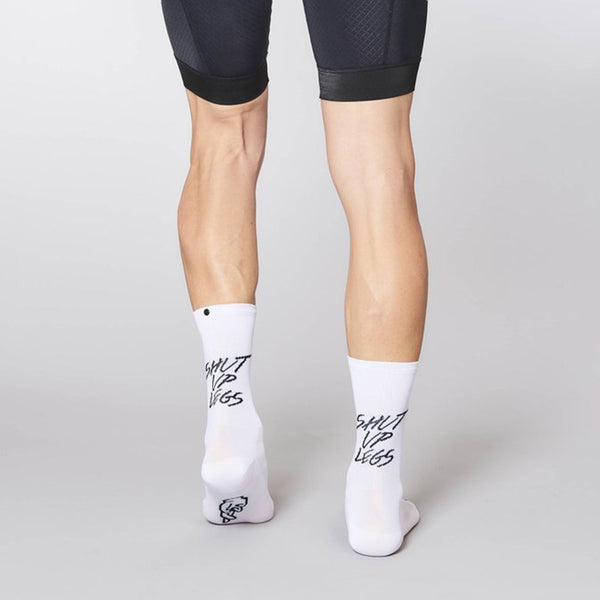 Fingerscrossed Socks - Shut Up Legs - White - Rouleur