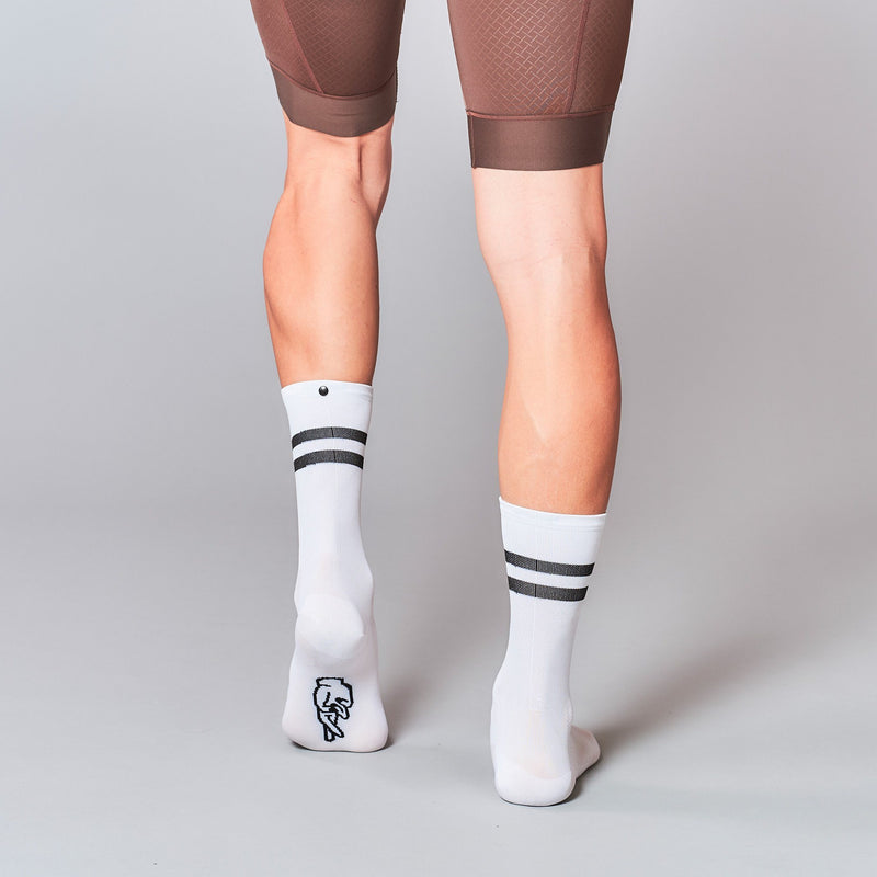 Fingerscrossed Socks - Stripes - White - Rouleur