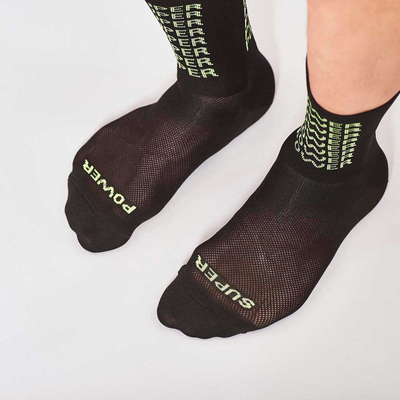 Fingerscrossed Socks - Super Power- Black-Acid - Rouleur