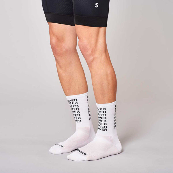 Fingerscrossed Socks - Super Power- White - Rouleur