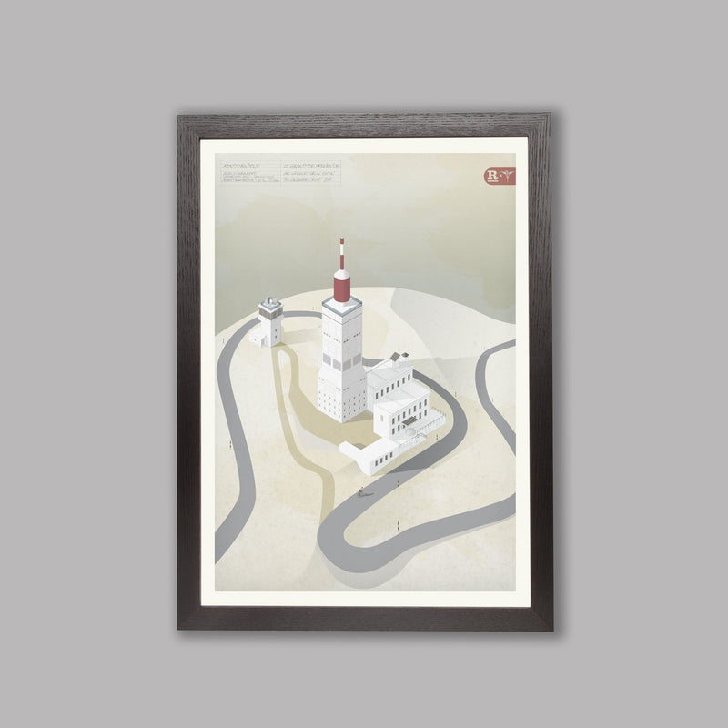 Landmarks - Mont Ventoux - Art Print Art Print RLR Collection