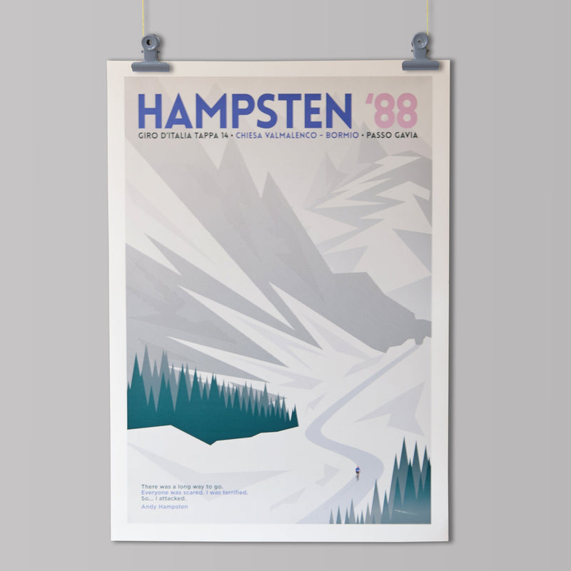 Panache Art Print - Hampsten '88 Art Print The Handmade Cyclist