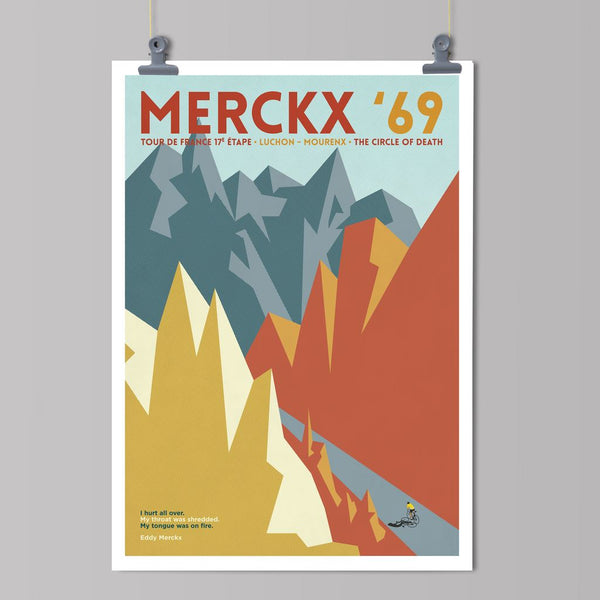 Panache Art Print - Merckx Art Print The Handmade Cyclist