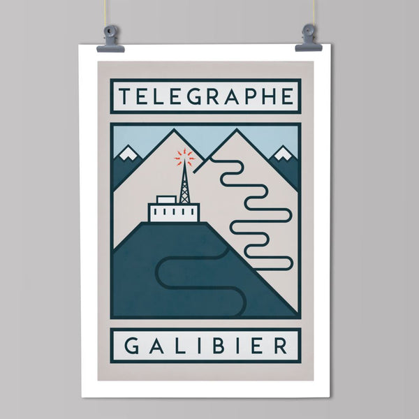 Routes Art Print - Col de Télegraph & Galibiér Art Print The Handmade Cyclist
