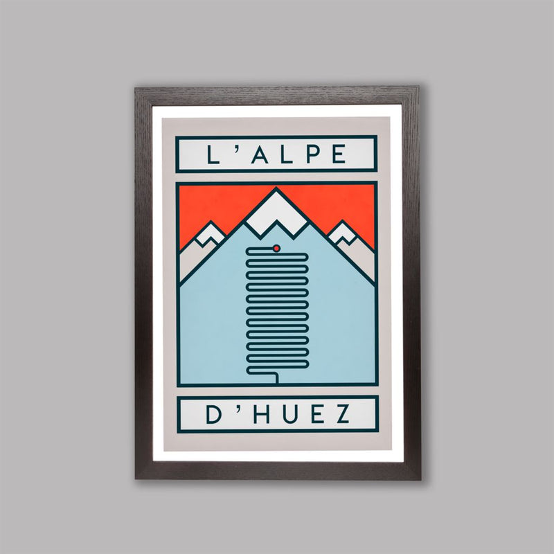 Routes Art Print - L'Alpe D'Huez Art Print The Handmade Cyclist
