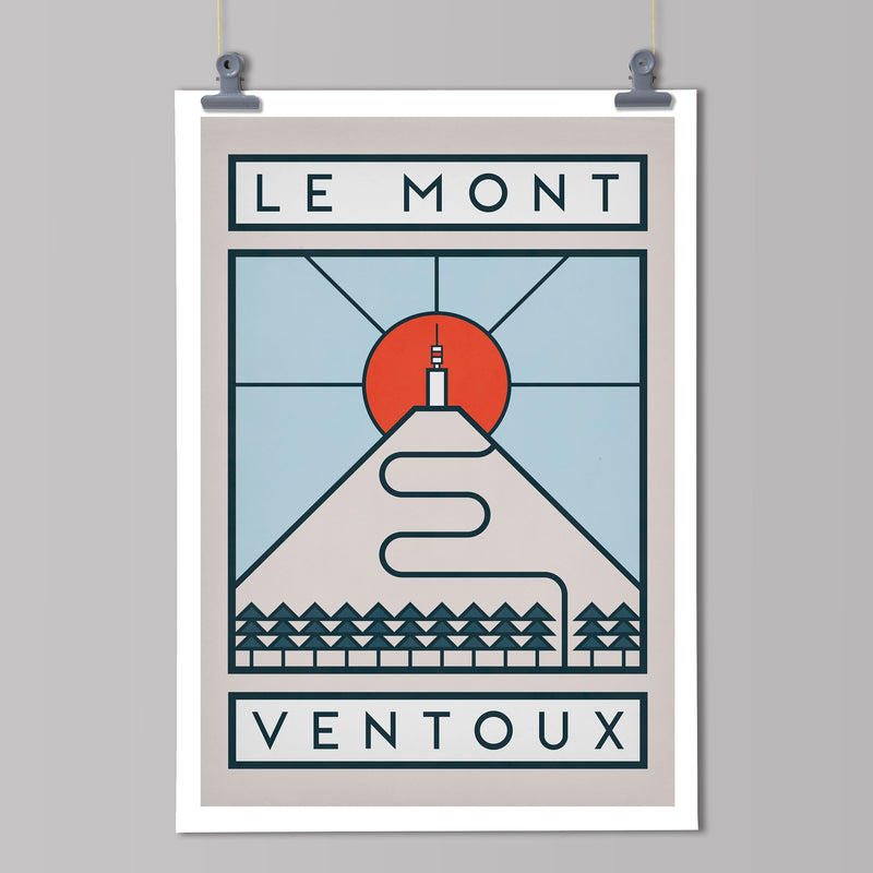 Routes Art Print - Mont Ventoux Art Print The Handmade Cyclist