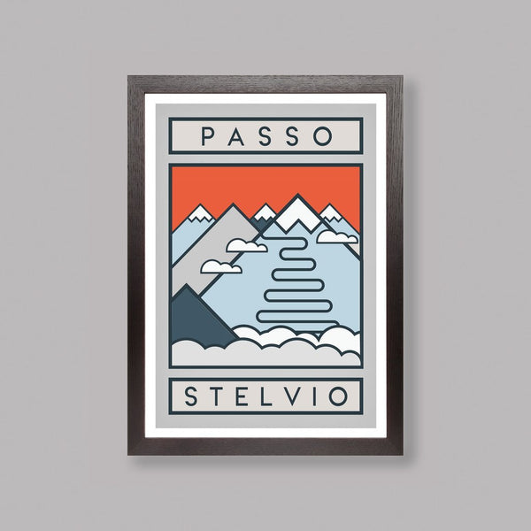 Routes Art Print - Passo Stelvio Art Print The Handmade Cyclist