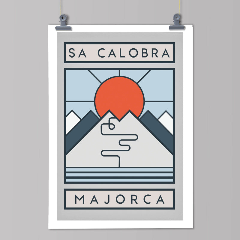 Routes Art Print - Sa Calobra Art Print The Handmade Cyclist