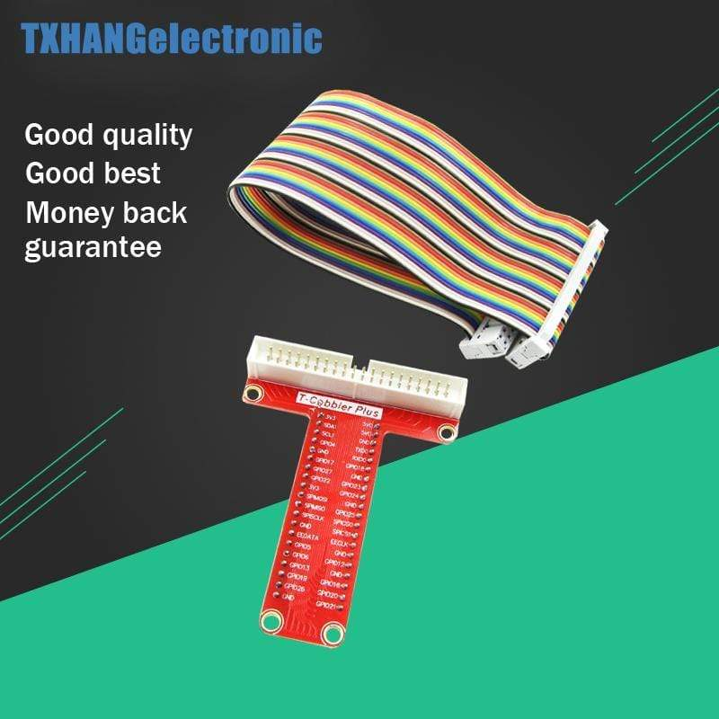 T GPIO Breakout Expansion Adapter Board +40Pin Cable DIY Kit For Raspberry Pi B+ 3 2