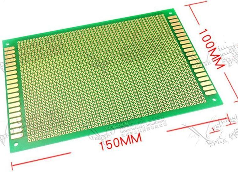 10*15cm  PCB circuit boards   PCB hole hole plate glass fiber epoxy plate   Experiment board learning board   10X15CM