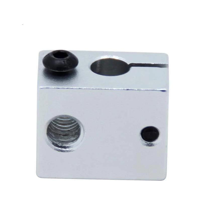 Aluminium V6 Heat Block For V5 V6 J-head Extruder HotEnd 3D Printers Parts Heater Hot End Heating Accessories 20*16*12 mm Part 1