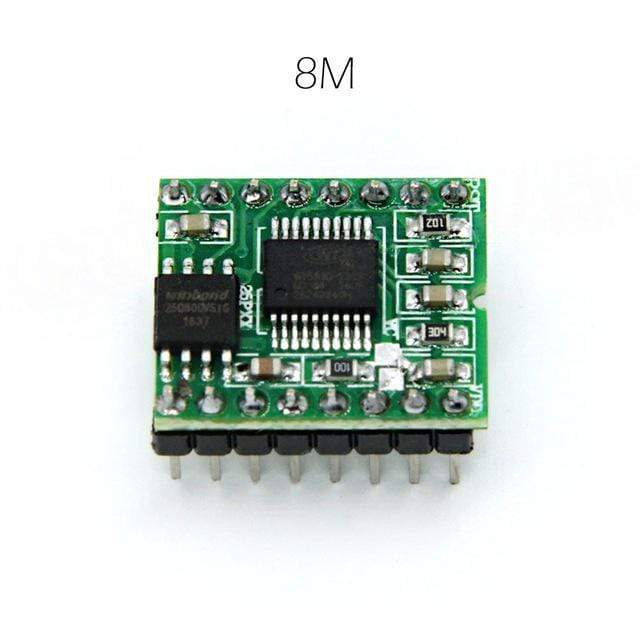 WT588DM01 WT588D 16M Voice Module Sound Board 255 Voices 4 Channel Key / button / Serial Control WT588D-16p DAC/PWM Output
