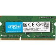 Crucial 2GB DDR3L-1600 PC3-12800 SODIMM 1.35V non-ECC Unbuffered CL11 204-Pin CT51264BF160BJ Memory Module For Laptop
