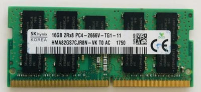 SK Hynix HMA82GS7CJR8N-VK 16GB 2666 DDR4 2Rx8 ECC 1.2V for Laptop