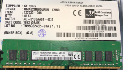 HMA82GU6DJR8N-XN 16GB DDR4 3200 2Rx8 PC4-3200AA for Desktop