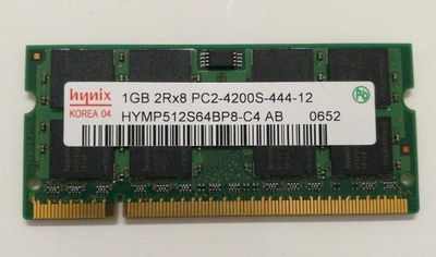 Hynix HYMP512S64BP8-C4 PC2-4200S-444-12 DDR2 1GB 2RX8 For Notebook