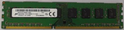 8GB DDR3 1600 2Rx8 PC3-12800U MT16JTF1G64AZ-1G6E1 For Desktop