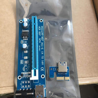 PCI-E Express Powered Riser Card W/ USB 3.0 extender Cable 1x to 16x Monero