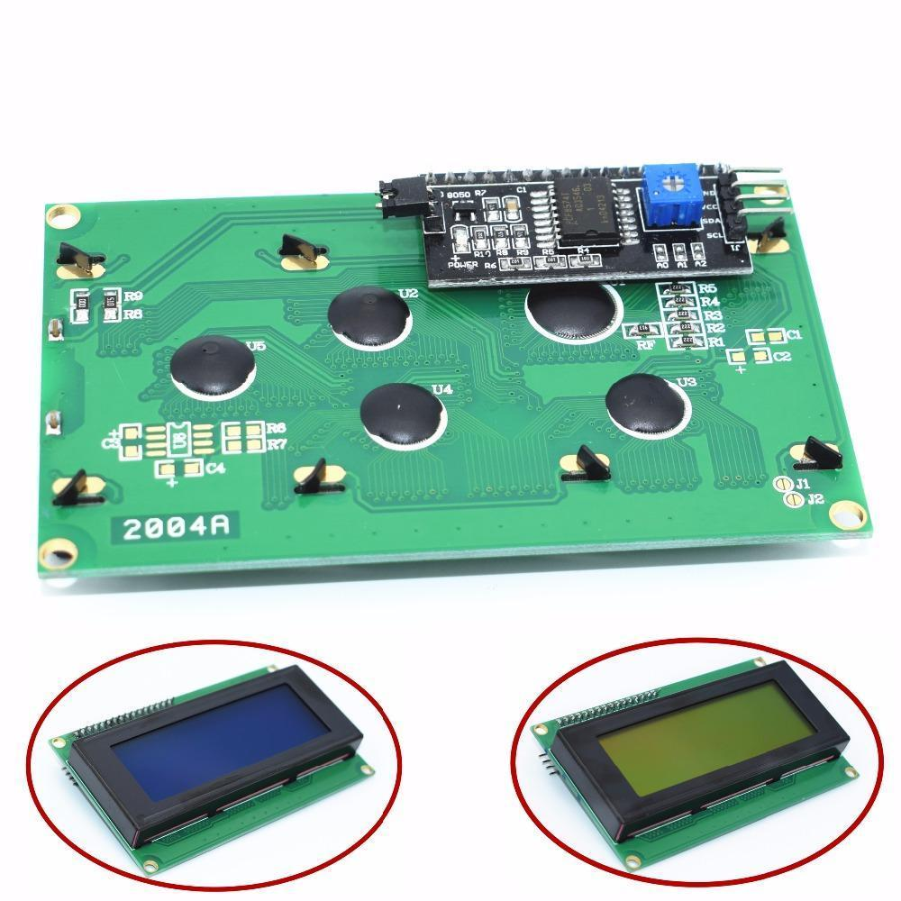 1PCS LCD2004+I2C 2004 20x4 2004A Blue/Green screen HD44780  Character LCD /w IIC/I2C Serial Interface Adapter Module for arduino