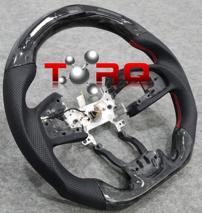 Forged Carbon Fiber Steering Wheel with LED Meter
