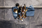 Oslo Cocktail Fork Set in Matte Gold - 3 piece