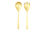 Oslo Salad Servers in Gold - Canvas Home