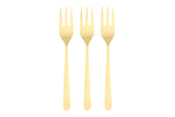 Oslo Cocktail Fork Set in Matte Gold - Canvas Home
