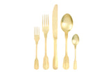 Madrid Cutlery Set in Matte Gold - Canvas Home