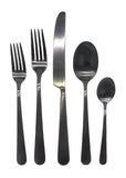 Como Cutlery Set in Matte Black