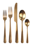 Como Cutlery Set in Matte Gold