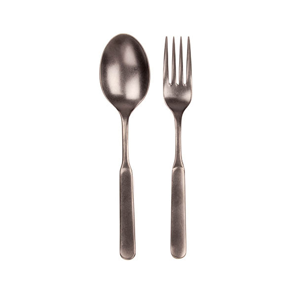 Lucca 2pc Salad Server in Black