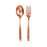Lucca 2pc Salad Server in Copper
